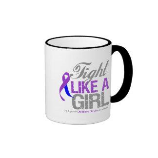 Childhood Stroke Ribbon - Fight Like a Girl Mug