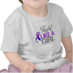Childhood Stroke Ribbon - Fight Like a Girl T-shirts