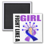 Childhood Stroke Victory Fight Like A Girl Refrigerator Magnets