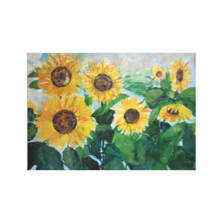 childhood sunflowers canvas print