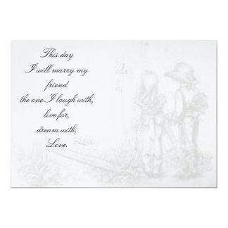 childhood sweet heart wedding 5x7 paper invitation card