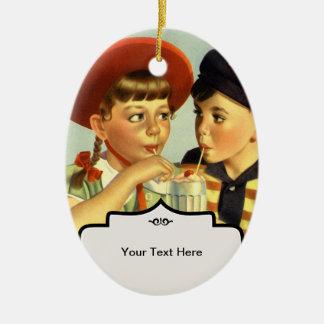 Childhood Sweethearts Ceramic Ornament