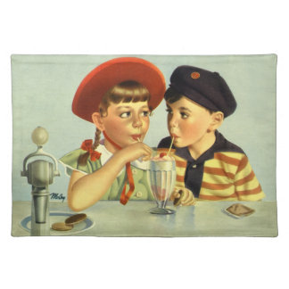 Childhood Sweethearts Cloth Placemat