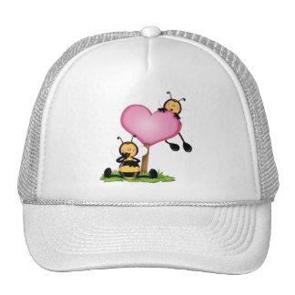 "Childish cap ""Couple of abelhinhas """