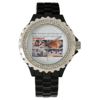 Childish Gambino said Watch, Black Enamel Wristwatch