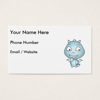 Childish Gargoyle Cartoon, Fun Smiling Business Card