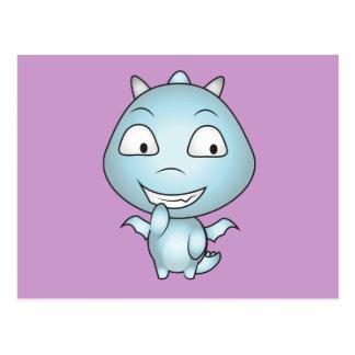 Childish Gargoyle Cartoon, Fun Smiling Postcard