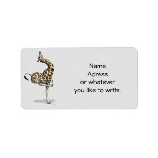 Childish Giraffe Label