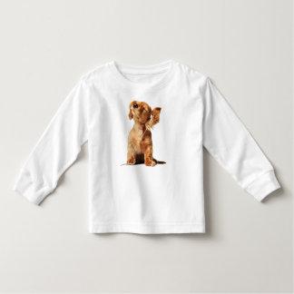 Childish long mango with dog print toddler t-shirt