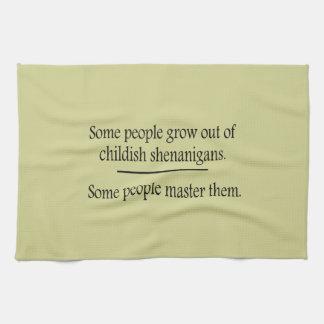 Childish Shenanigans Hand Towels