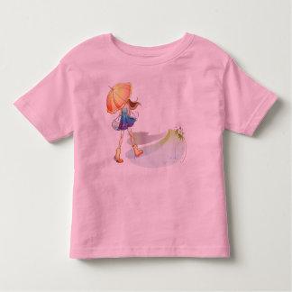 """Childish t-shirt """"Girl taking a walk """""""