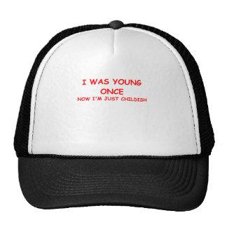 childish trucker hat