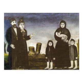 Childless millionaire by Niko Pirosmani Postcard