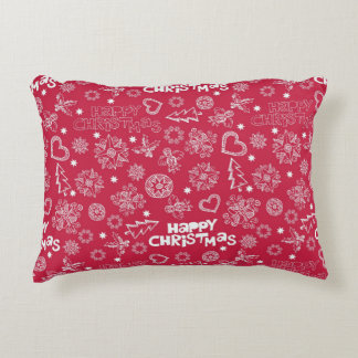 Childlike Christmas doodles Accent Pillow