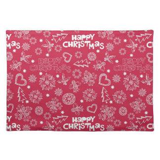 Childlike Christmas doodles Place Mats