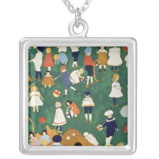 Children, 1908 silver plated necklace
