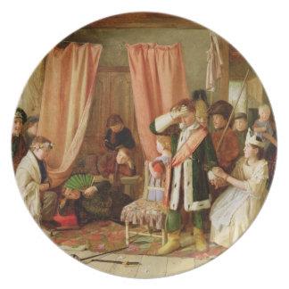 Children acting the 'Play Scene', Act II, Scene ii Dinner Plate