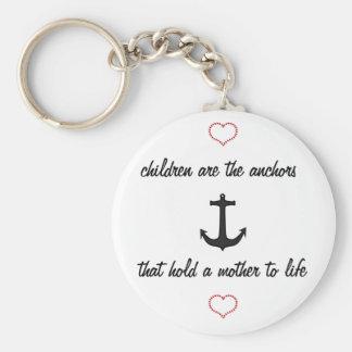 Children Anchor Mothers Keychain