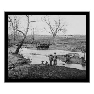 Children and Cavalry Officers at Bull Run 1862 Posters