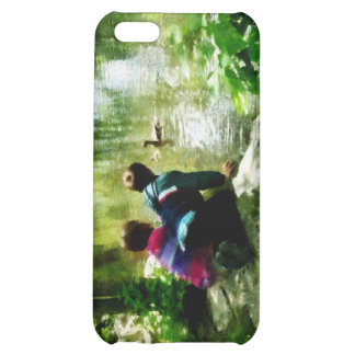 Children and Ducks in Park Case For iPhone 5C