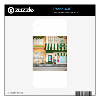 Children and shops decal for the iPhone 4