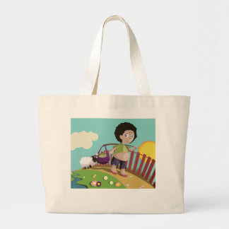 children and the sheep bags