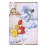 Children and the snowman iPad mini cases