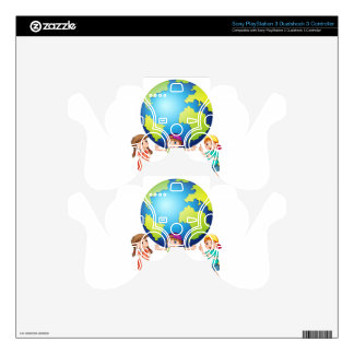 Children and the world PS3 controller decals