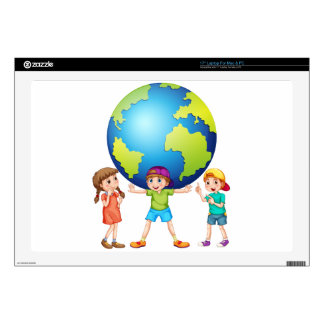 """Children and the world skin for 17"""" laptop"""