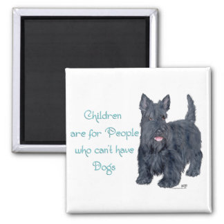Children are for . . . Scottie Witticism 2 Inch Square Magnet