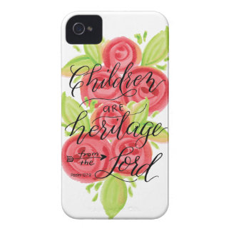Children are Heritage from the Lord iPhone 4 Case-Mate Case
