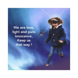 Children are love and pure canvas print