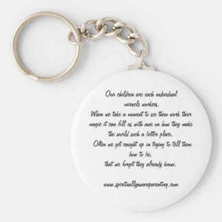 Children are miracle workers keychain