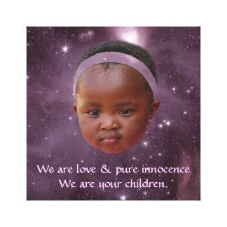 Children are pure love canvas print
