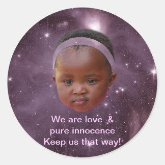 Children are pure love classic round sticker