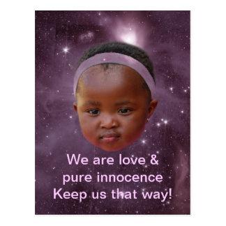 Children are pure love postcard