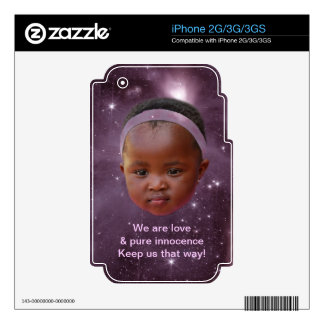 Children are pure love iPhone 2G decal
