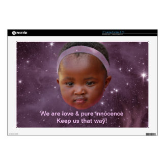 "Children are pure love 17"" laptop skin"