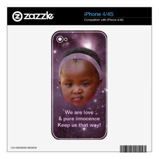 Children are pure love decal for the iPhone 4S