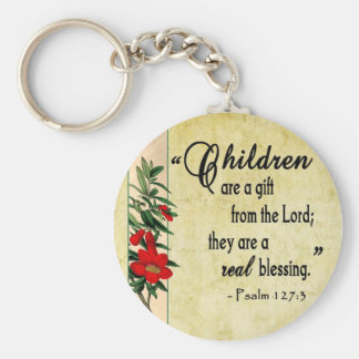 Children Are Real Blessing Keychain