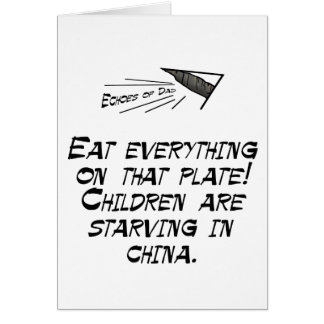 Children are starving greeting card