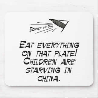 Children are starving mouse pad