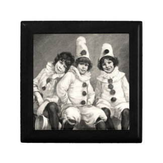 Children Arlequin Costume Clown German Kaulbach Keepsake Box