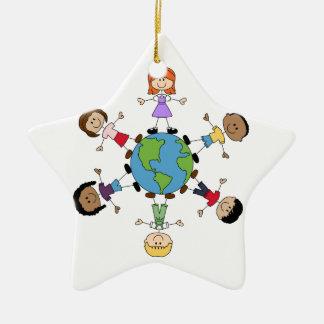 Children Around The World Ceramic Ornament