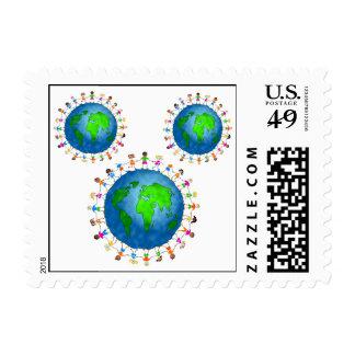 """""""Children Around the World"""" Postage Stamps"""