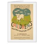 Children Art Brooklyn 1938 WPA Card