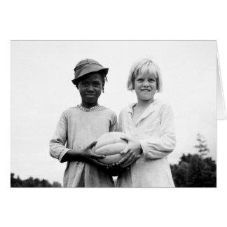 Children at Hill House, Mississippi - 1936 Card