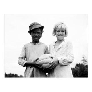 Children at Hill House, Mississippi - 1936 Postcard
