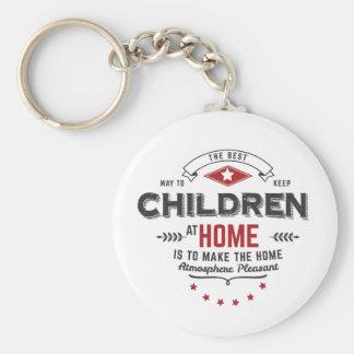 children at home keychain