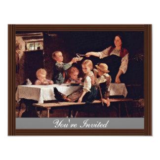 Children At Lunch By Benjamin Vautier  (Best Quali Announcements